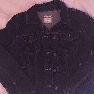 Old Navy dark denim jacket
